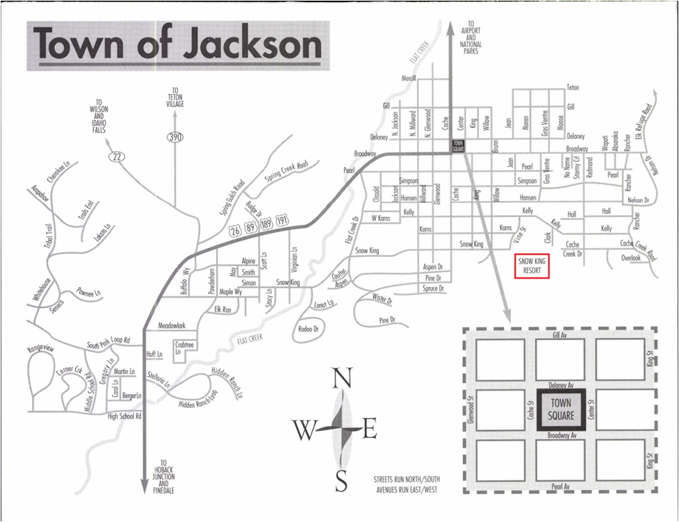 Map of Jackson